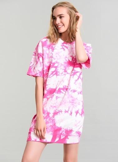 Agenda Batik Yıkamalı Elbise Pembe